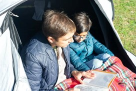 father reading to a child
